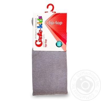 Колготки Conte-kids Tip-Top дитячі бавовняні сірі 116-122р - купити, ціни на Таврія В - фото 1