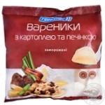 Вареники Геркулес с картофелем и печенью замороженные 400г