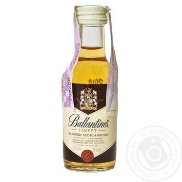 Виски Ballantines Finest 40% 0,05л - купить, цены на Ашан - фото 1