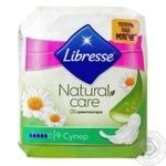 Прокладки гигиенические Libresse Natural Care Ultra Super 9шт