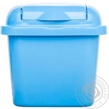 Відро для сміття з кришкою квадратне 1,5л колір в асортименті - купити, ціни на МегаМаркет - фото 2