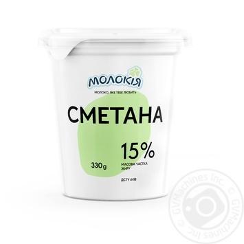Сметана Молокія 15% 330г - купить, цены на Novus - фото 1