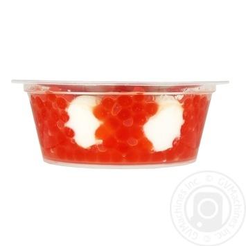 Santa Bremor with sour cream sauce salmon simulated caviar 100g