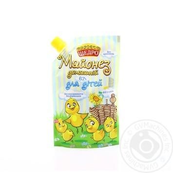 Shcherdro Homemade For Children Mayonnaise 67% 190g - buy, prices for Novus - image 1