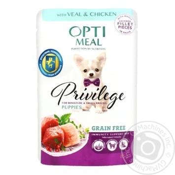 Корм для щенков Optimeal телятина-курица в соусе 85г - купить, цены на Novus - фото 1