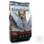 Корм сухий повноцінний для дорослих собак малих порід, свіжа курка з рисом Nutrilove 1,4кг