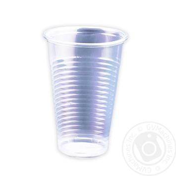 Стакан одноразовий пластиковий 200мл 100шт - купити, ціни на Метро - фото 1
