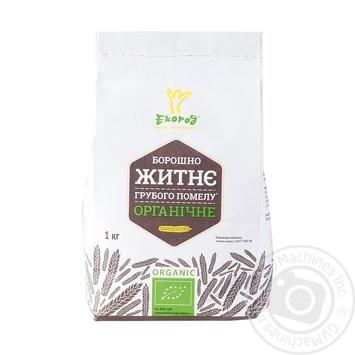 Мука Екород ржаная органическая грубого помола 1кг - купить, цены на МегаМаркет - фото 1