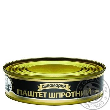 Паштет Аквамарин шпротный 160г - купить, цены на Фуршет - фото 1