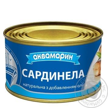 Сардинелла Аквамарин натуральная с добавлением масла 240г - купить, цены на Ашан - фото 1