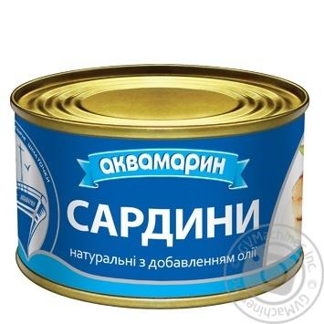 Сардина Аквамарин натуральная с добавлением масла 230г - купить, цены на Фуршет - фото 3
