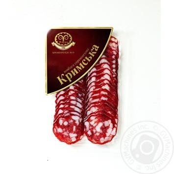 Колбаса Фарро Крымская нарезка сырокопченая 80г - купить, цены на Фуршет - фото 1