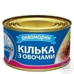 Килька Аквамарин черноморская обжаренная с овощным гарниром в томатном соусе 230г