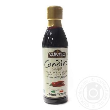 Соус з бальзамічного оцту із Модени зі смаком перцю чилі Varvello 250млпл/б - купить, цены на Novus - фото 1