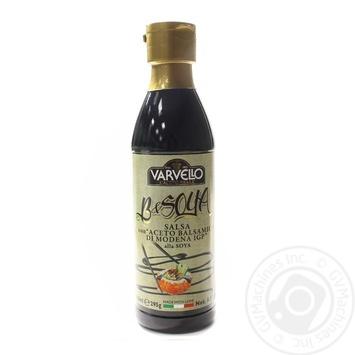 Соус з бальзамічного оцту із Модени зі смаком сої Varvello 250мл пл/б - купити, ціни на Novus - фото 1