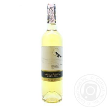 Вино Santa Alicia Reserva Sauvignon Blanc Valle del Maipo біле сухе 12,5% 0,75л - купити, ціни на Novus - фото 3