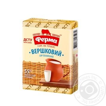 Сыр плавленый Ферма Сливочный 55% 90г - купить, цены на Novus - фото 1