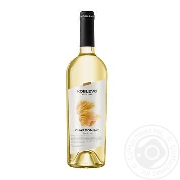 Вино Коблево Шардоне сухое сортовое белое 9,5-14% 0,75л