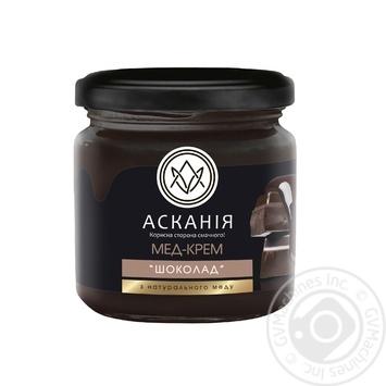 Мед-крем Аскания шоколад 250г - купить, цены на Novus - фото 1