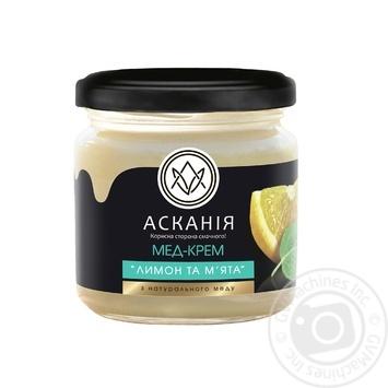 Honey-cream Askania mint 250g glass jar - buy, prices for Novus - image 1