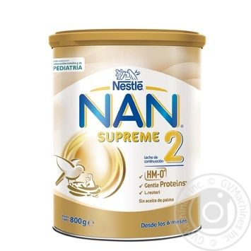 Nestle Nan Supreme 2 for children from birth dry milk blend 800g - buy, prices for Novus - image 1