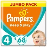 Подгузники Pampers Sleep & Play 4 Maxi 9-14кг 68шт