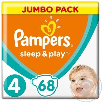 Подгузники Pampers Sleep & Play 4 Maxi 9-14кг 68шт