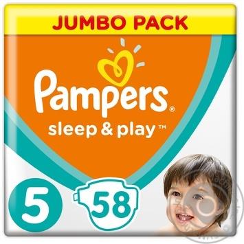Подгузники Pampers Sleep & Play 5 Junior 11-16кг 58шт