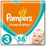 Подгузники Pampers Sleep&Play 3 Midi 5-9кг 58шт