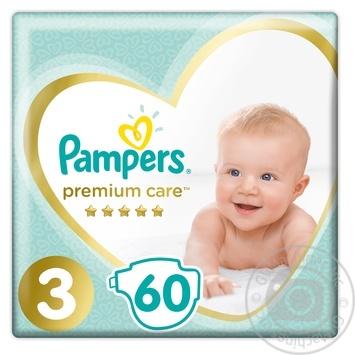 Подгузники Pampers Premium 3 Midi 5-9кг 60шт