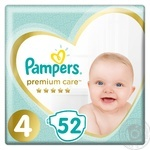Подгузники Pampers Premium Care 4 Maxi 9-14кг 52шт