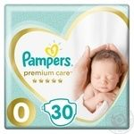 Подгузники Pampers Premium Care 0 Micro 1-2,5кг 30 шт