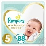 Подгузники Pampers Premium Care 5, 11-16кг 88шт