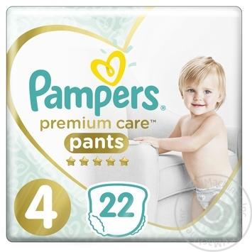 Підгузки-трусики Pampers Premium Care Pants 4 Maxi 9-15кг 22шт
