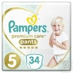 Трусики Pampers Premium Care 5 Junior 12-17кг 34шт