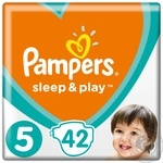 Подгузники Pampers Sleep & Play Размер №5 (Junior) 11-16кг 42шт
