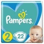 Подгузники Pampers New Baby-Dry 2  4-8кг 22шт