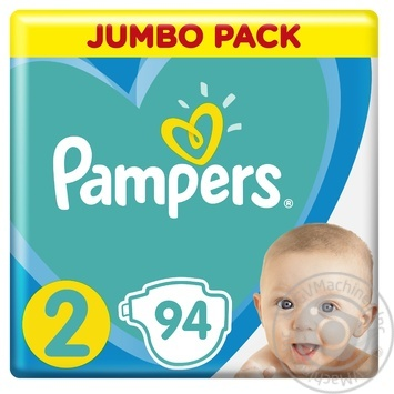 Подгузники Pampers New Baby 2 4-8кг 94шт - купить, цены на Ашан - фото 3