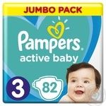 Подгузники Pampers Active Baby 3 6-10кг 82шт