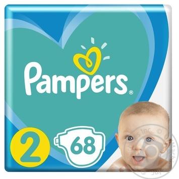 Пiдгузники Pampers New Baby-Dry 2 Mini 3-6кг 68шт