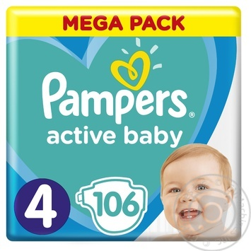 Подгузники Pampers Active Baby 4 9-14кг 106шт