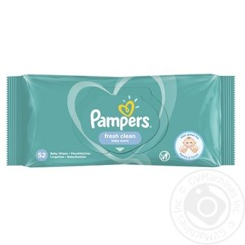Pampers Baby Fresh Clean Baby Wipes 64pcs - buy, prices for Furshet - image 4
