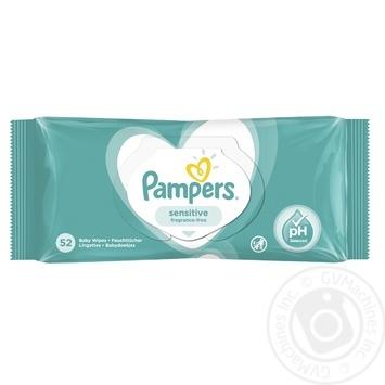 Cалфетки Pampers Sensitive 52шт - купить, цены на МегаМаркет - фото 2