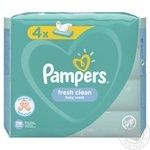 Pampers Fresh Clean Wet wipes 4X52pcs