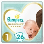 Підгузники Pampers premium care 2-5кг 26шт