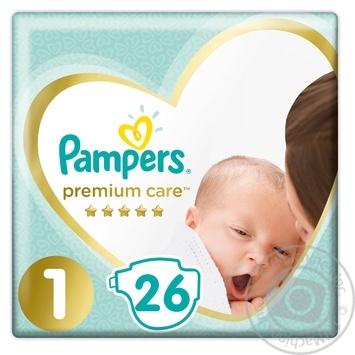 Pampers Diapers Premium Care 1, 2-5kg 26pcs