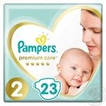 Pampers Premium Care Diapers 2, 4-8kg 23pcs
