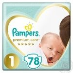 Подгузники Pampers Premium Care 1, 2-5кг 78шт