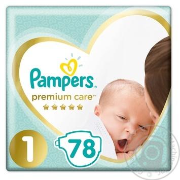Pampers Premium Care Diapers 1, 2-5kg 78pcs