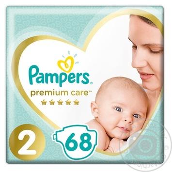 Скидка на Подгузники Pampers Premium Сare 2, 4-8кг 68шт